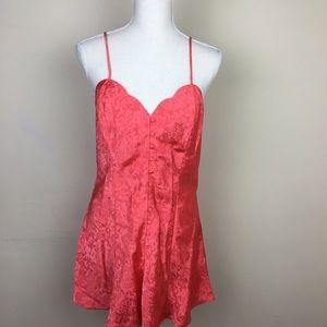 Victoria's Secret Gold Label Coral Chemise NWT